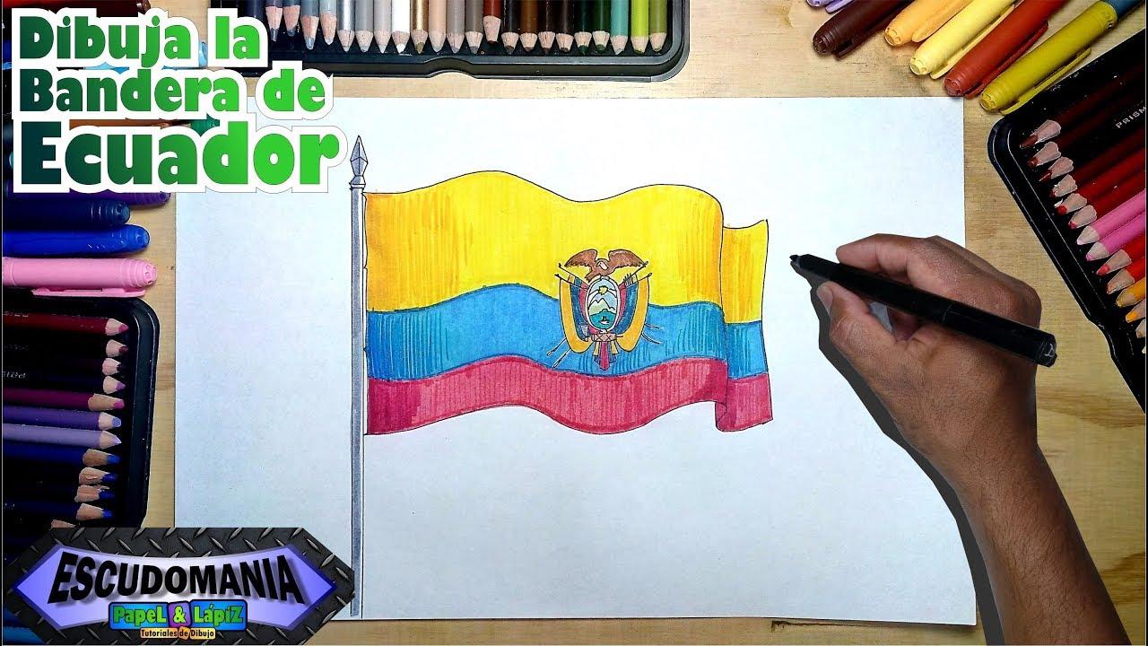 Cómo Dibujar Y Pintar La Bandera Nacional De Ecuador