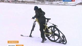Креатив по-южноуральски. Стул вместо санок и велосипед вместо снегохода