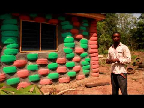 Building An Earthship With Tires Peace Corps Ghana Youtube