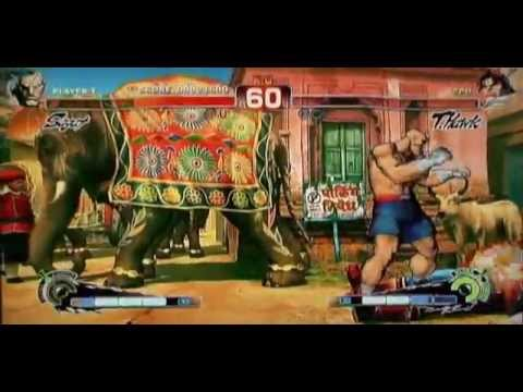 Playstation 3 Playing Super Street Fighter 4 with Custom Soundtrack MP3 music using PS3 XMB.
