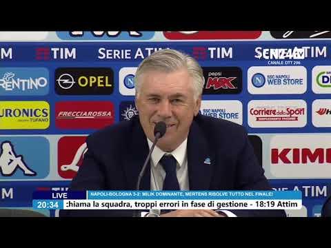 Napoli-Bologna, Carlo Ancelotti in conferenza stampa