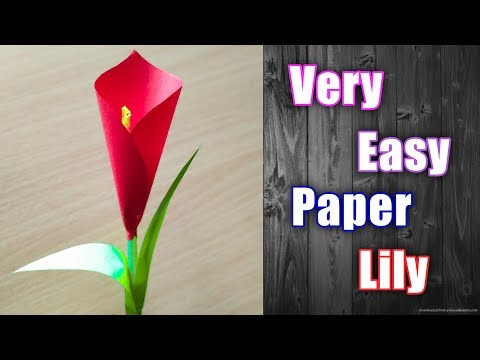 How To Make Paper Flower Lily   Very Easy DIY Paper Craft
