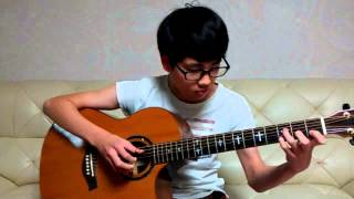 TAEYANG - 눈,코,입 (EYES, NOSE, LIPS- Fingerstyle Guitar .)