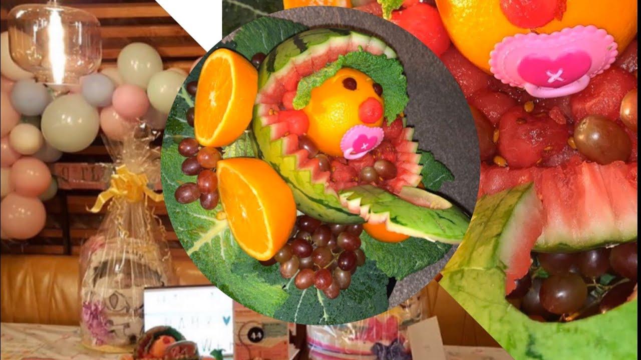 Easy fruit carving/ watermelon baby pram/ fruit basket ...