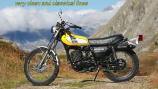 Yamaha 250 DT 1975 in the Alps mountains.