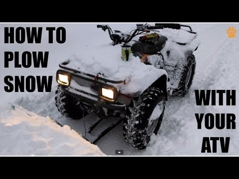 How To Plow Snow With Your Atv Country Cycles Atv Plow