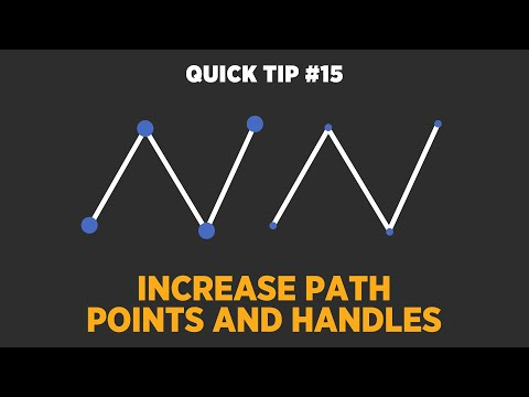 Increase Path Points and Handles - Adobe After Effects Tutorial