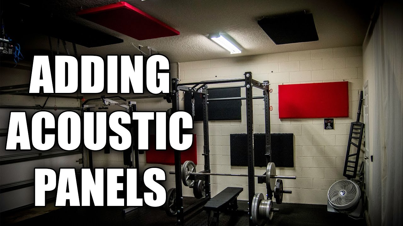 Building acoustic panels for the garage gym better sound quality