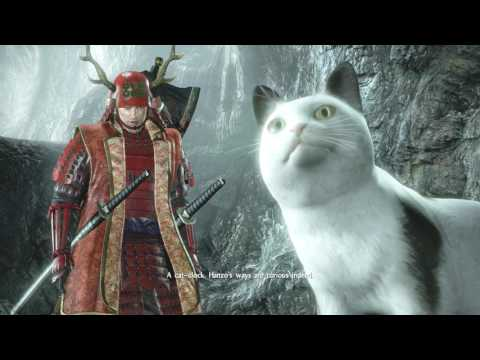 Nioh Talk to Talking Cat in Deep in the Shadows Mission