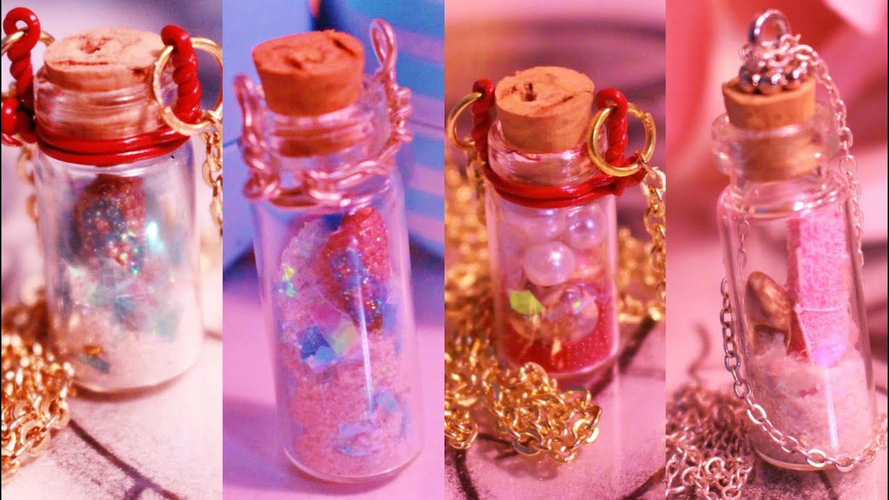 DIY Gift idea| Mini Bottle Necklace| Valentines Day, Anniversary ...