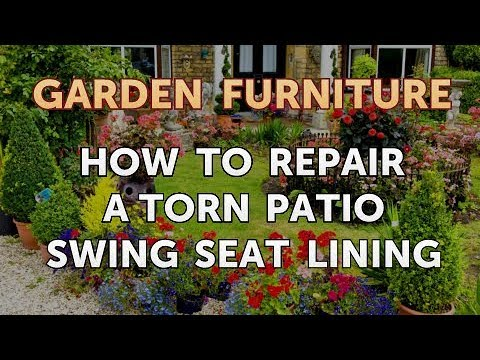 How To Repair A Torn Patio Swing Seat Lining Youtube