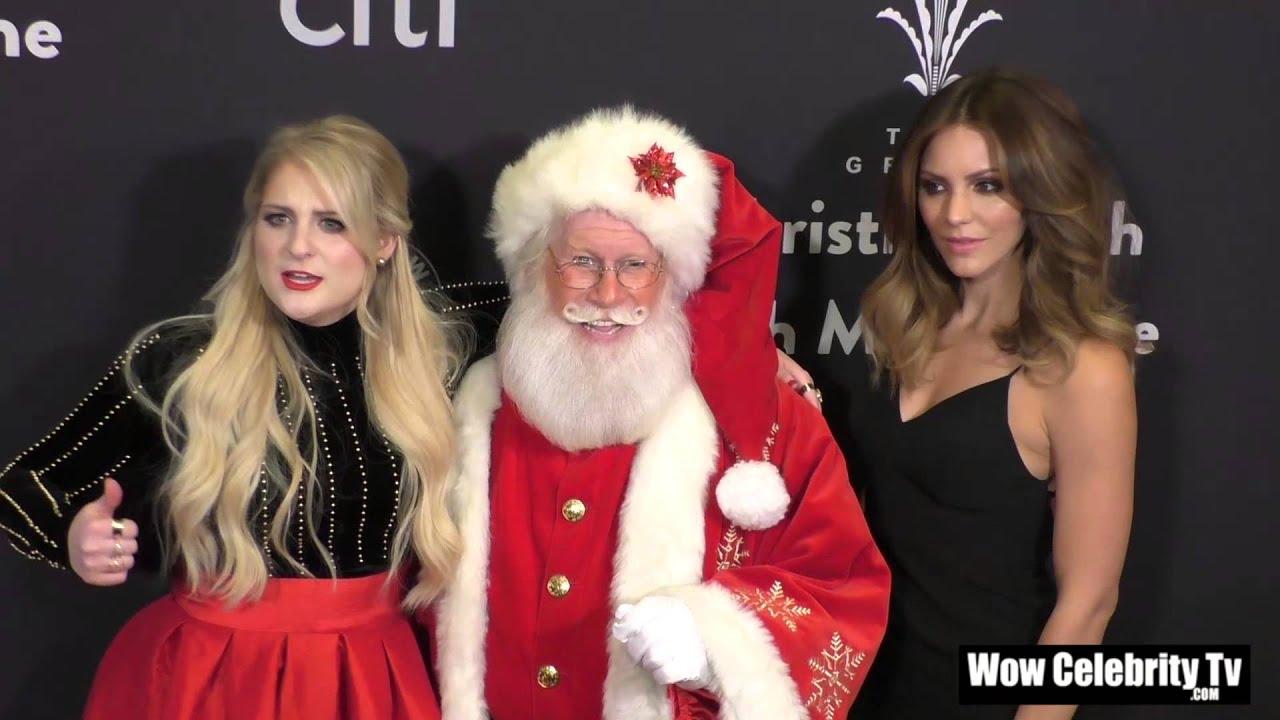 Meghan Trainor, Santa Claus and Katharine McPhee at The Grove ...