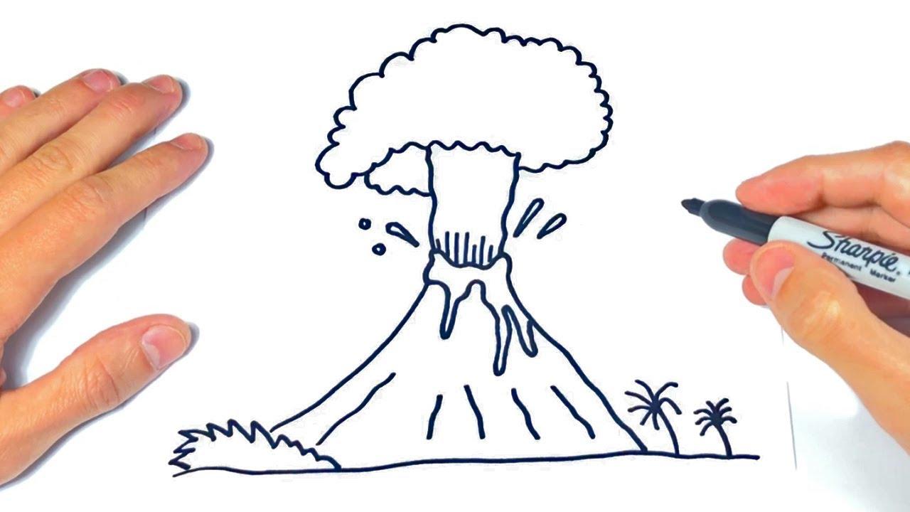Cómo Dibujar Un Volcan Paso A Paso Dibujo De Volcan Youtube