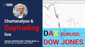 Daytrading & Markttechnik live | DAX | EURUSD | Gold | Dow Jones | Analyse & CFD Trading 02.04.20