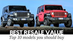 Top 10 Cars with Best Resale Value and Slowest Depreciation Rates