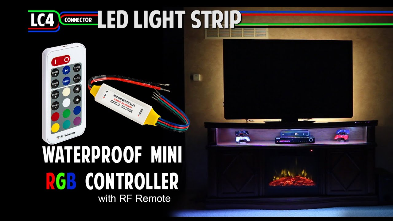 Color Changing Mini RGB Waterproof Controller with RF Remote