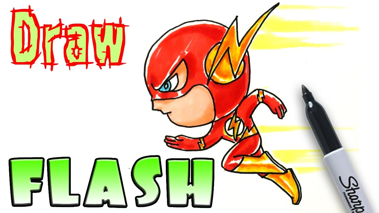 How to Draw the Flash - Coloring Pages - YouTube