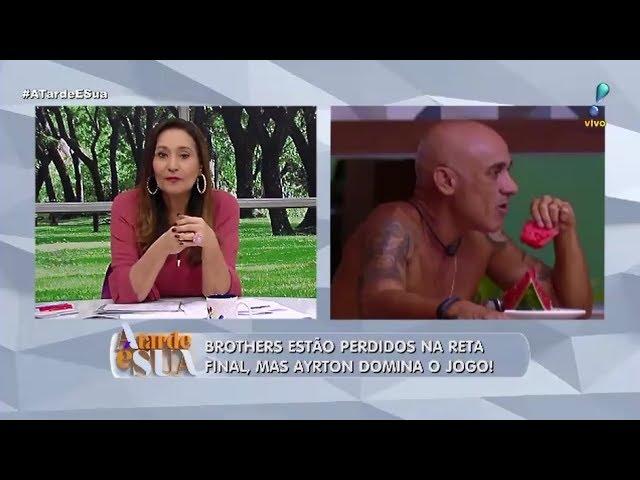 """Sonia Abrão questiona """"sacada"""" de Ayrton sobre possível paredão no BBB"""