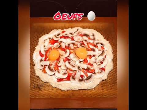 recette-pizza-maison-poivrons/champignons/fromage-de-chèvre