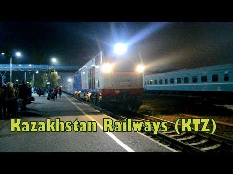 Прибытие поезда 376 на станцию Оскемен-1 в Усть-Каменогорске