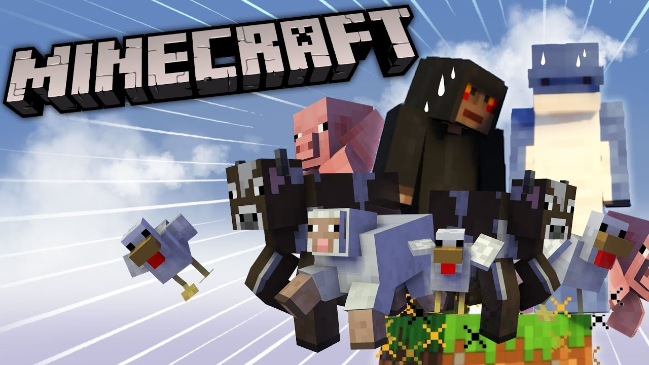 Too Many Animals on Our Sky Block! MINECRAFT BEDROCK RTX #1 - AD