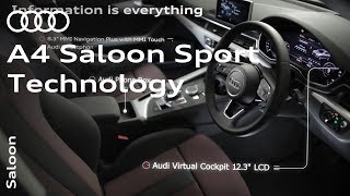 The Audi A4 Saloon Sport: Get to grips with technology