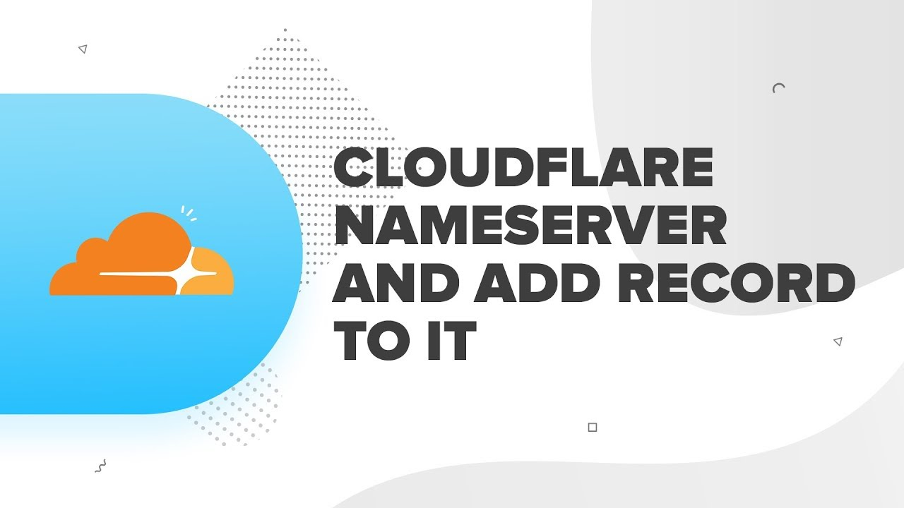 How to use Cloudflare Name Servers and how do I add a record to Cloudflare  | ResellerClub