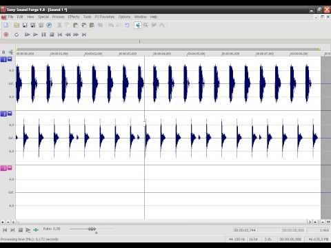 Como mezclar/unir pistas/canciones en Sound Forge