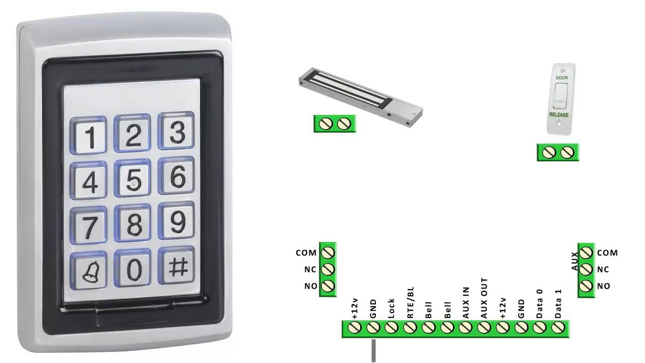 Dg500 Keypad Basic Wiring Guide Youtube Security Bell Diagram