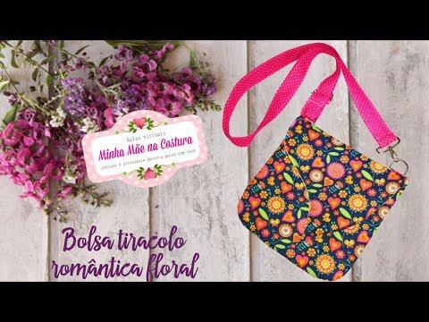 Bolsa tiracolo romântica floral | Minha...
