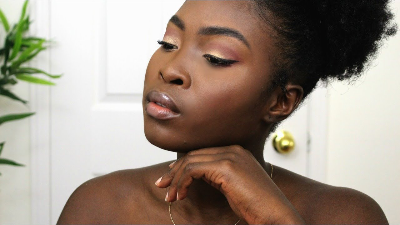 Easy Rose Gold Makeup Look For Dark Skin Queenykaay Youtube This is when being able to pull off an everyday natural eye makeup look is key. easy rose gold makeup look for dark skin queenykaay