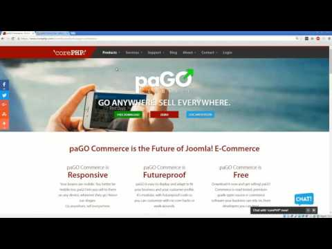 How To Install paGO Commerce, A FREE Joomla eCommerce Extension