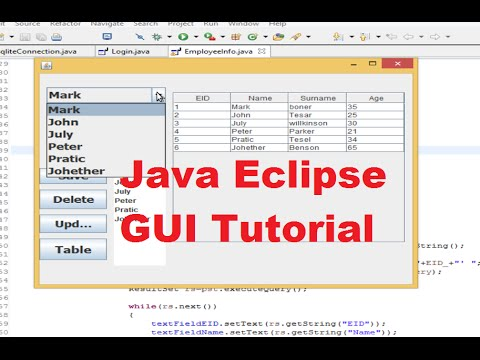 Java Eclipse GUI Tutorial 20 # Search data in Database and ...