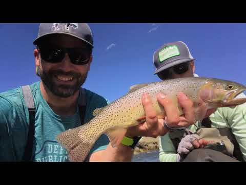 THE LAMAR RIVER - Fly Fishing in Yellowstone National Park.