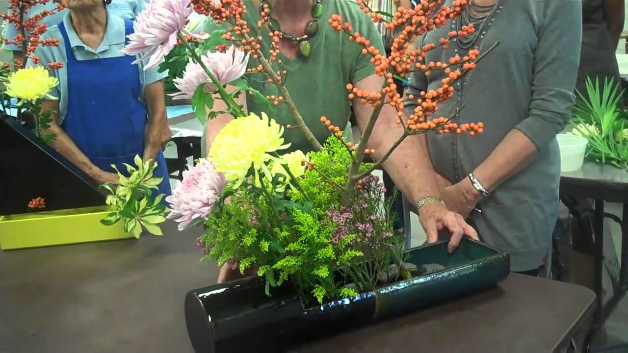 Sogetsu Ikebana Flower Arrangement Youtube