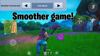 How to get 60 FPS in FORTNITE MOBILE NO PC
