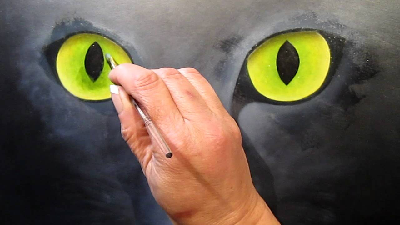 How to paint a cat the work of the eyes 22  YouTube