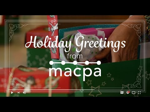 A Year of Celebration | Happy Holidays from MACPA | 2017