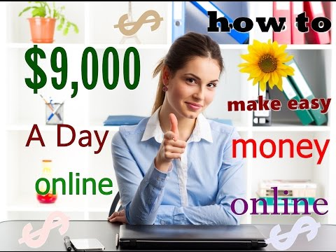 How To Make Easy Money Online For Free 2017 -  Make Over $9,000 Per Day