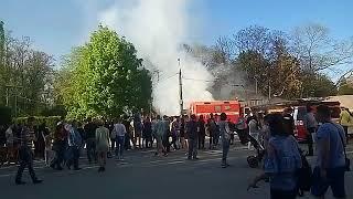 Odessa1.com - Пожар в парке Горького - 2