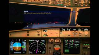 Voo entre Curitiba e Guarulhos TAM3220 A319 #FS2004