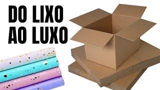 DIY - Do Lixo ao Luxo Somente com Papelão
