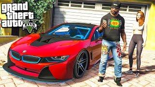 gTA 5 ФРАНКЛИН С ДЕВУШКОЙ КУПИЛИ BMW i8 РЕАЛЬНАЯ ЖИЗНЬ В ГТА 5 МОДЫ #35! ОБЗОР МОДА GTA 5 видео игра