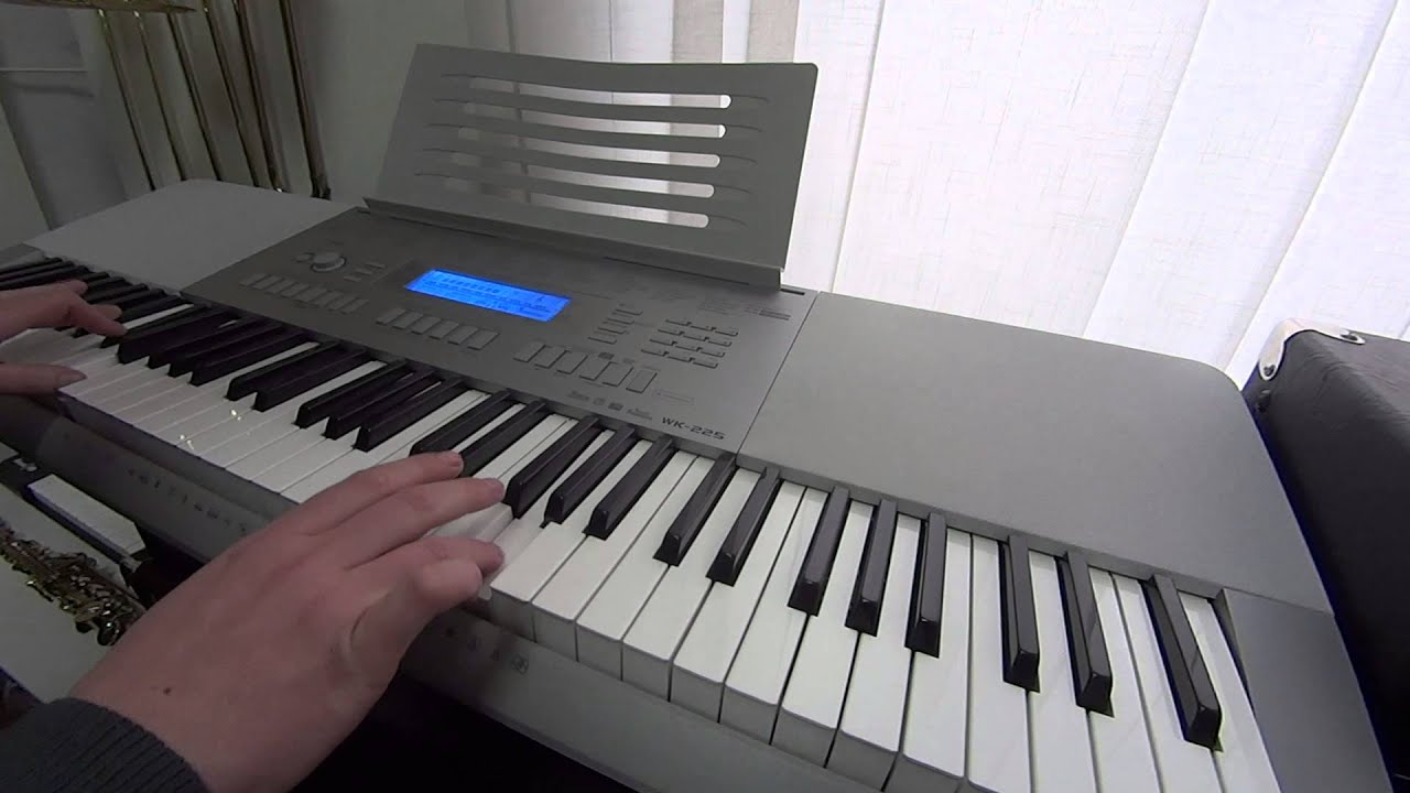 demo casio electronic keyboard wk 225 youtube. Black Bedroom Furniture Sets. Home Design Ideas