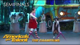 Alexa Lauenburger: 12YearOld Dog Trainor BLOWS The Judges away @America's Got Talent Champions