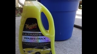 Meguiars Ultimate Wash and Wax test review Before and After results on 2001 Honda Prelude
