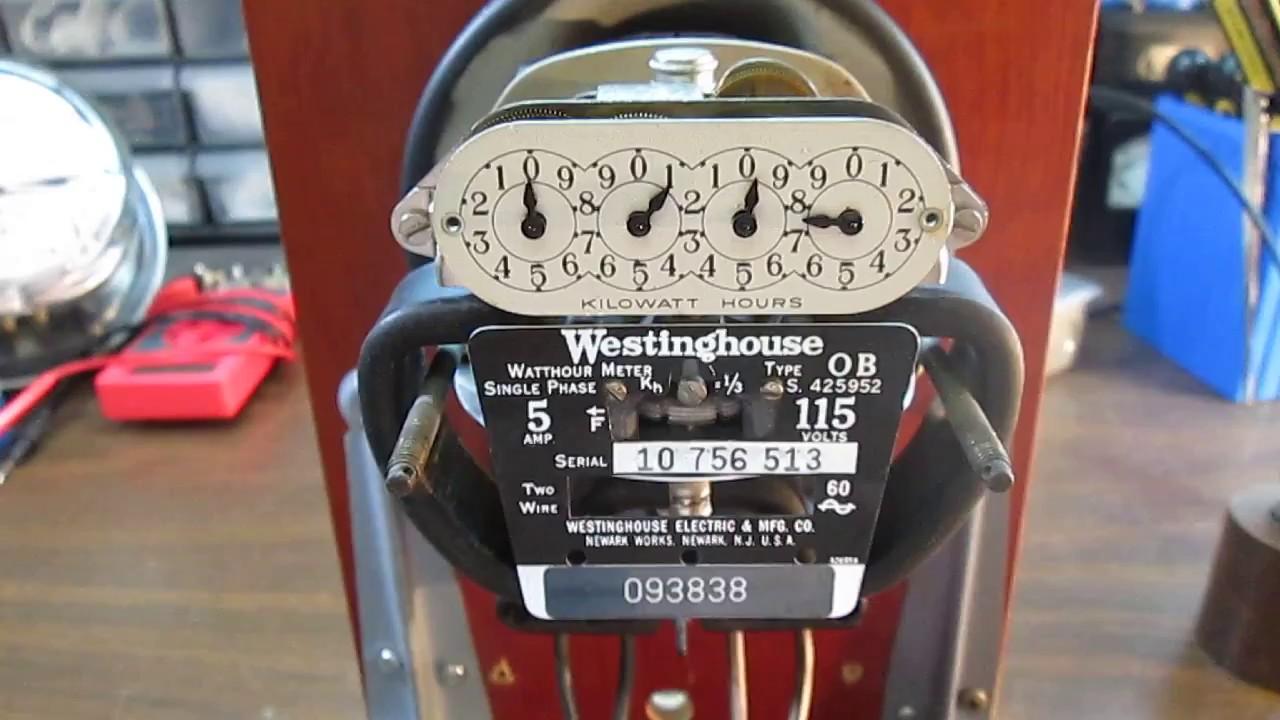 Westinghouse Type-OB Watt Hour Meter - YouTube