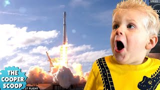 Falcon Heavy Test Flight [Kids React LIVE]