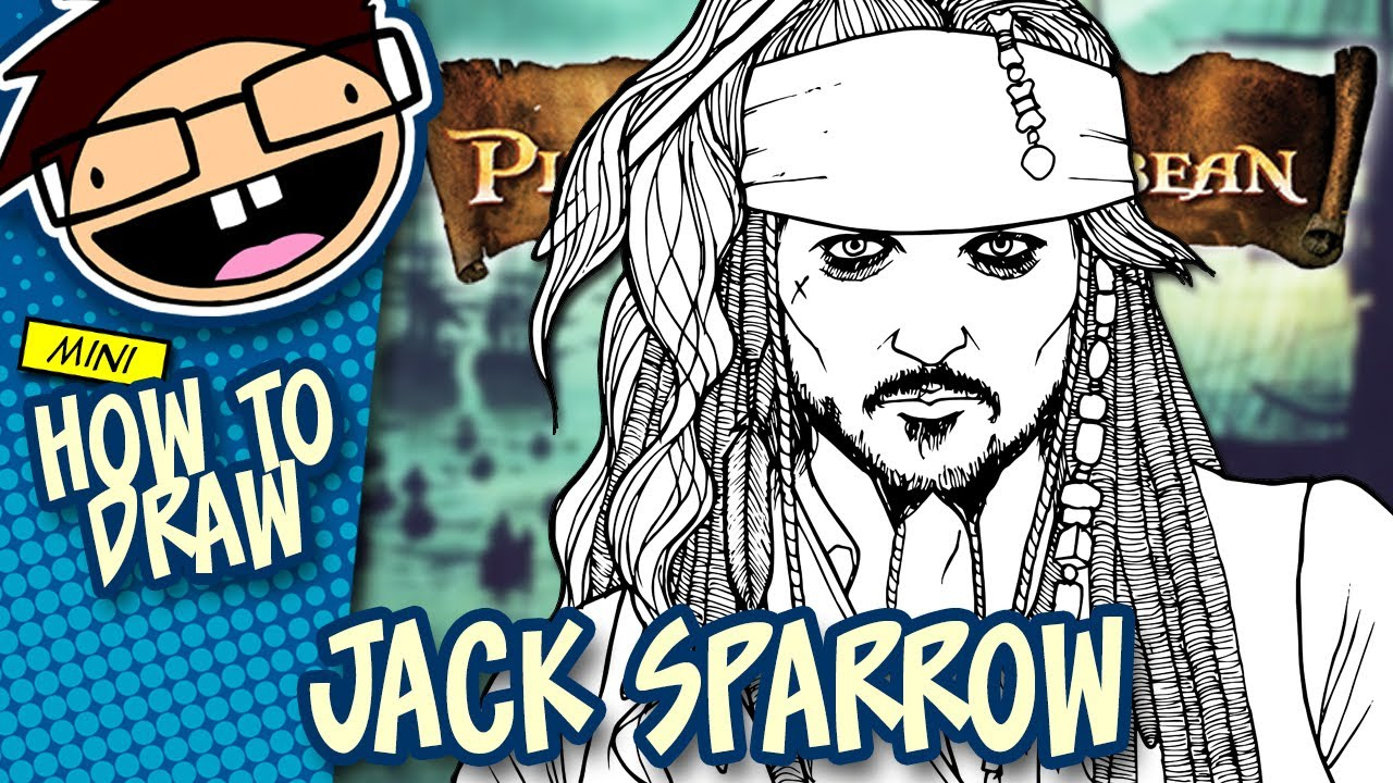 How to Draw JACK SPARROW (The Pirates of the Caribbean ...