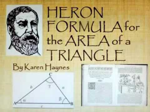Heron's Formula for the Area of a Triangle